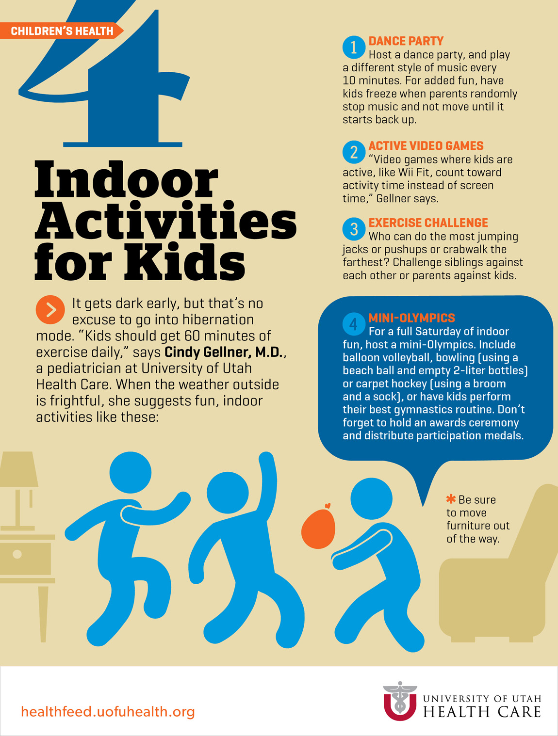 4 Indoor Activities For Kids University Of Utah Health
