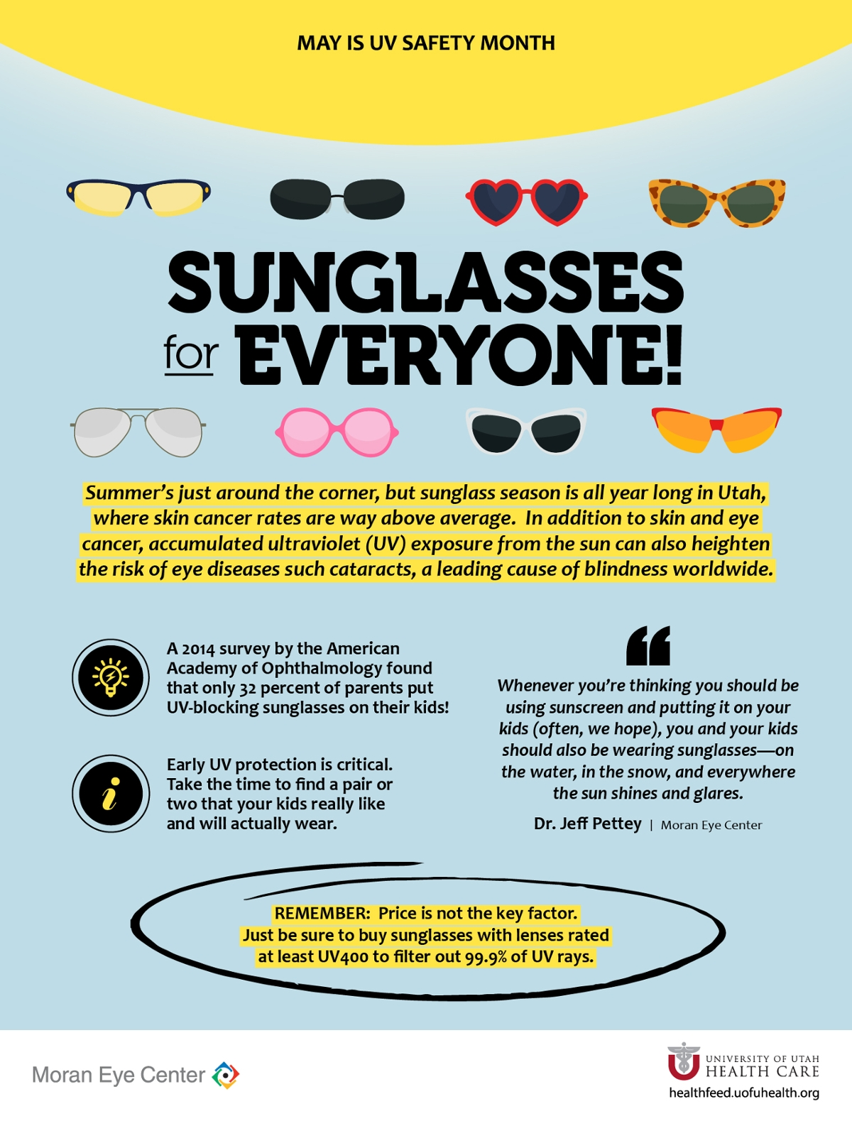 38947693925 Infographic with tips for buying sunglasses · vision sun safety