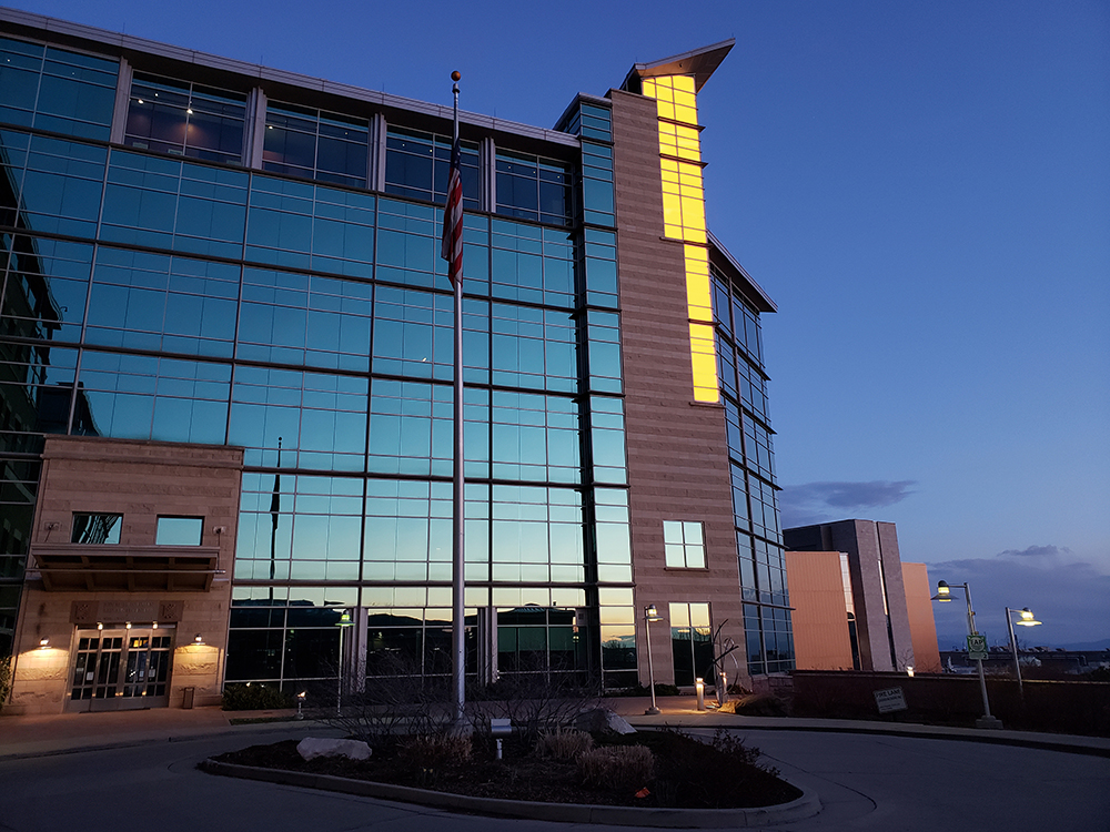 Huntsman Cancer Institute Beacon of Hope Shines Gold to Convey Hope for the Future