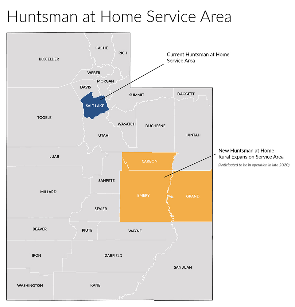 Huntsman at Home's service area will expand.