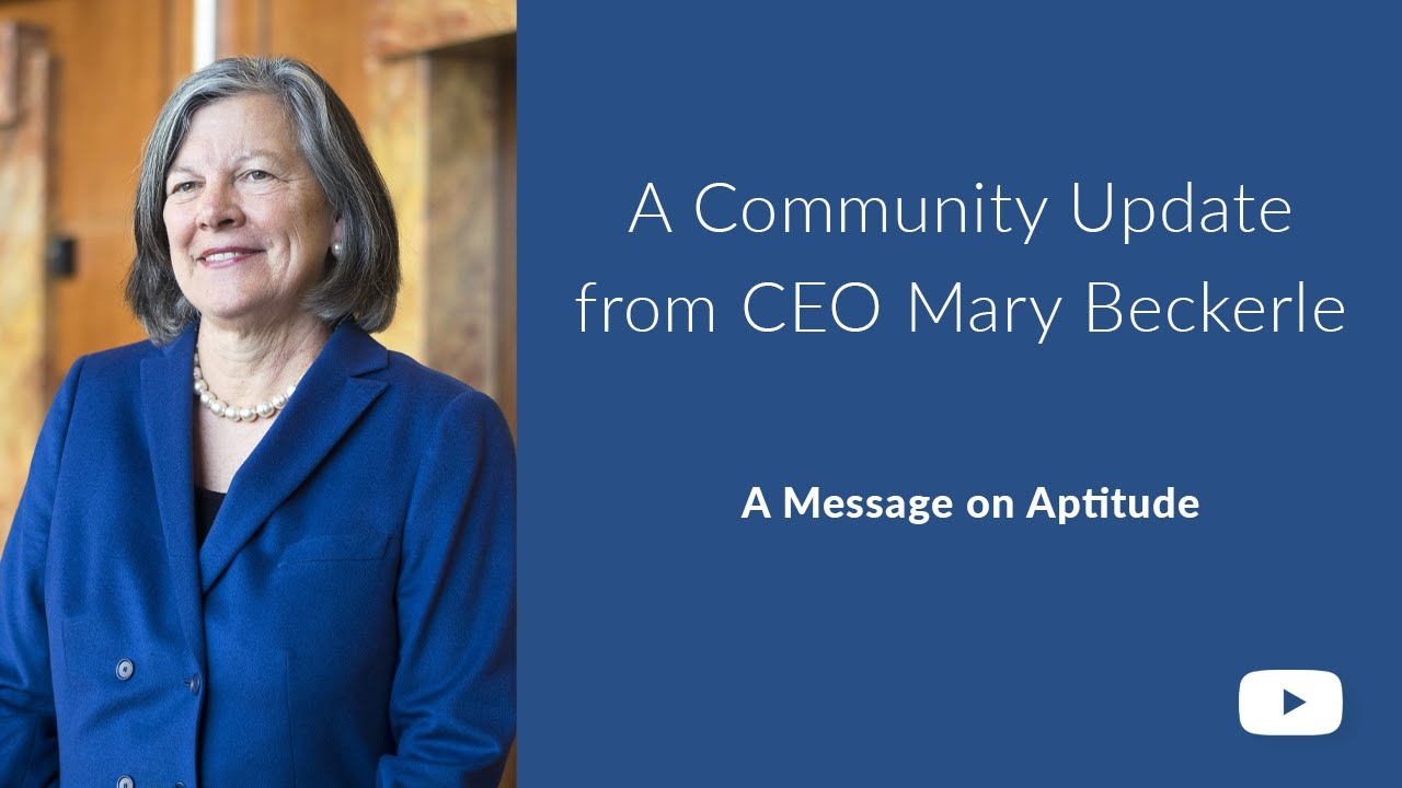 Community Update from CEO Mary Beckerle: May 15, 2020