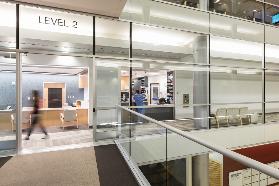 The recently remodeled second floor of the Moran Eye Center s University of  Utah location includes a 4f8b6e8dcda5