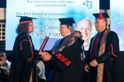 Israel's Ben-Gurion University Honors U of U Nobel Laureate, Mario Capecchi,  With Honorary Doctorate Degree